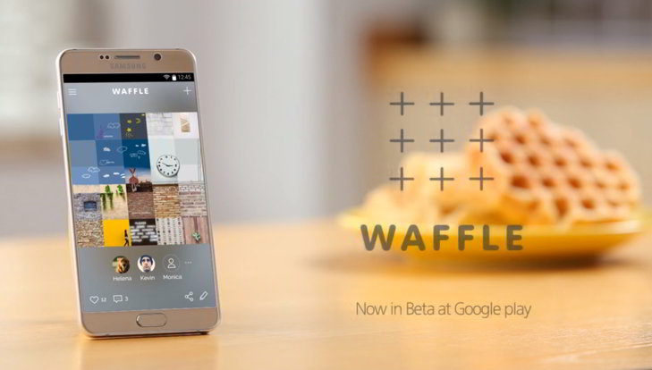 waffle samsung collage