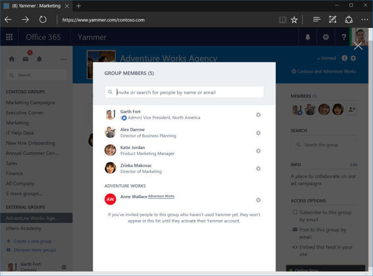 Yammer welcomes new external groups feature